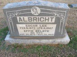 Effie <i>Belote</i> Albright