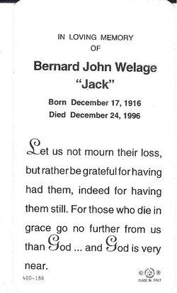Bernard John Jack Welage