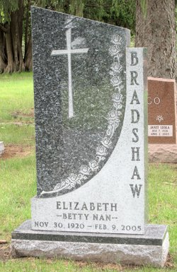 Elizabeth (Betty) Nan Betty Nan <i>Eberhardt</i> Bradshaw