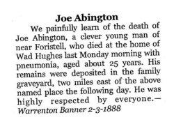 Joseph Y Abington