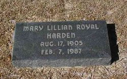 Mary Lillian <i>Royal</i> Harden