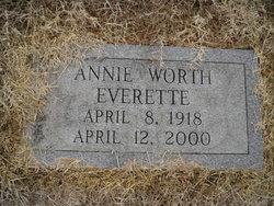 Anne <i>Worth</i> Everette