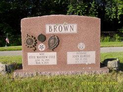 Effie Mayhew <i>Cole</i> Brown