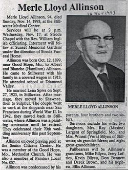 Merle Loyd Allinson