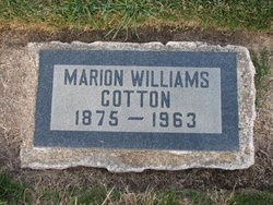 Marion <i>Williams</i> Cotton