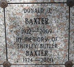 Shirley Irene <i>Butler</i> Baxter