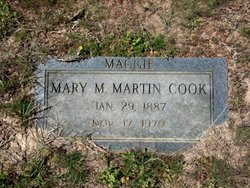 Mary Margarite Maggie <i>Martin</i> Cook