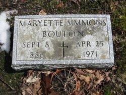 Maryette <i>Simmons</i> Bouton