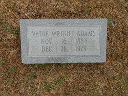 Vadie <i>Wright</i> Adams