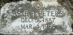 Arie Blanche <i>Hert</i> Peters Hill