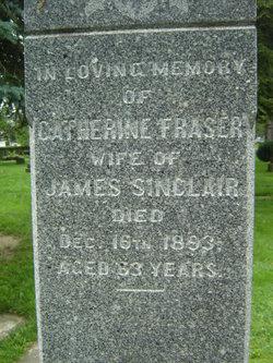 Catherine <i>Fraser</i> Sinclair