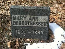 Mary Ann <i>Bensley</i> Bergstresser