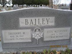 Etta M. <i>Alexander</i> Bailey