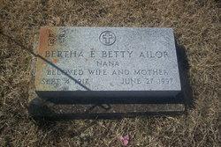 Bertha Betty <i>Richardson</i> Ailor