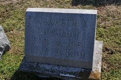 Elizabeth Bettie <i>Nelson</i> Buckman