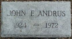 John F Andrus