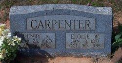 Willie Eloise <i>Redus</i> Carpenter