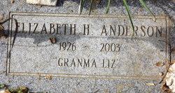 Elizabeth H Granma Liz Anderson