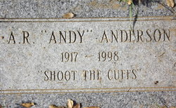 A R Andy Anderson