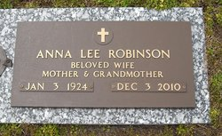 Anna Lee <i>Vick</i> Robinson