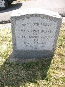 Mary <i>Friel</i> Burns