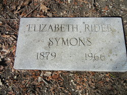 Elizabeth R <i>Rider</i> Symons