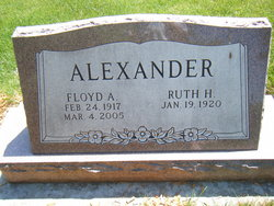 Ruth Helen <i>Cozad</i> Alexander