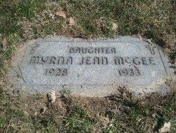 Myrna Jean <i>McGee</i> McGee
