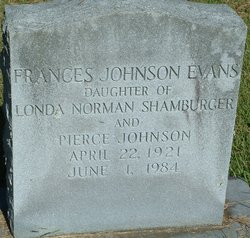 Frances <i>Johnson</i> Evans