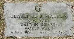 Clarence J Madden