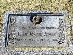 Lillie Marie Lil <i>Cook</i> Adams