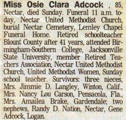 Osie Clara Adcock