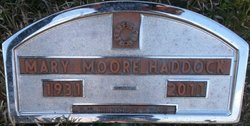 Mary Josephine Pete <i>Moore</i> Haddock