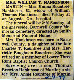 Emma <i>Rountree</i> Hankinson