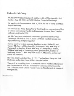 Richard J McCorry