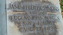Jane Philippa <i>Symons</i> Burden