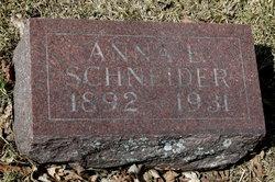 Anna E <i>Michaelis</i> Schneider