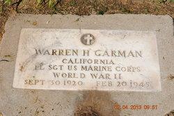 Sgt Warren Harding Garman