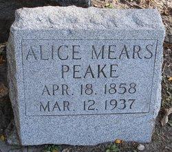 Alice Mears <i>Yorks</i> Peake