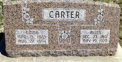 Emma <i>Ward</i> Carter