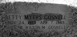 Betty <i>Myers</i> Gosnell