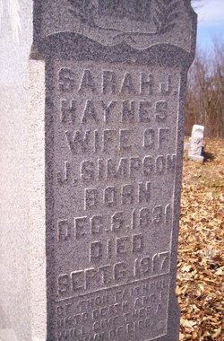 Sarah Jane <i>Haynes</i> Simpson