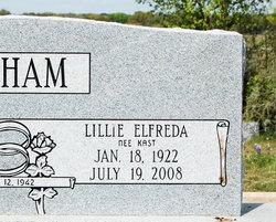 Lillie Elfreda <i>Kast</i> Latham