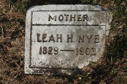 Leah H. <i>Swartzlander</i> Nye