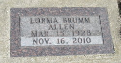 Lorma Leota <i>Brumm</i> Allen