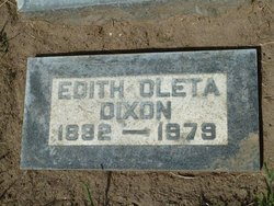 Edith Oleta <i>Pound</i> Dixon