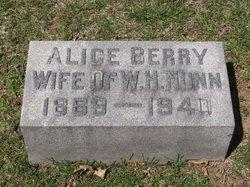 Alice <i>Berry</i> Nunn