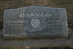 Edna L <i>Timming</i> Hawver