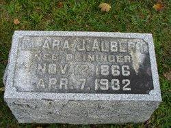 Clara J <i>Deininger</i> Albert
