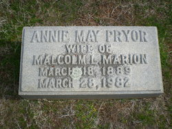 Annie May <i>Pryor</i> Marion